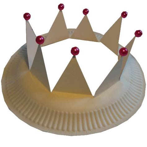Paper Crown Craft - crown paper plate craft colegio castillos y caballeros