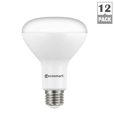Ecosmart Led Light Bulbs Ecosmart 65w Equivalent Soft White Br30 Dimmable Led Light Bulb 12 Pack 5csbr650stq1d03 The