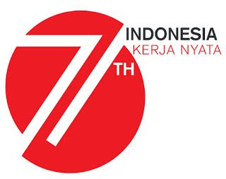 logo resmi hut ri     indonesia kerja nyata