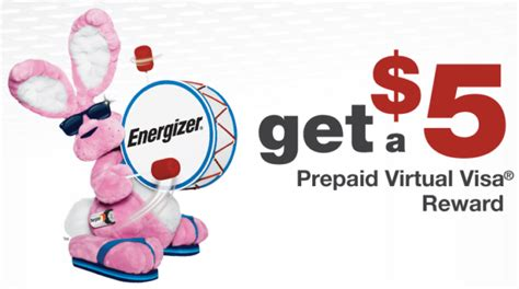 Can You Buy Things Online With A Visa Gift Card - free 5 visa free 5 walmart gift card w energizer battery purchase