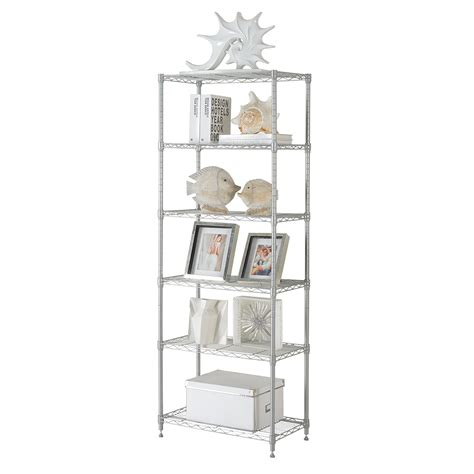 Kitchen Shelving Unit by 6 Tier Heavy Duty Chrome Storage Rack Wire Shelving Rack
