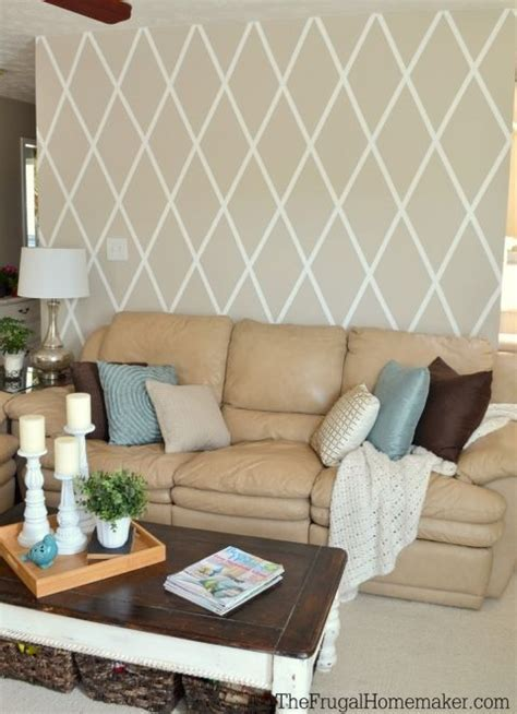 Paint Ideas Kitchen How To Paint A Diamond Accent Wall With Scotchblue Tape