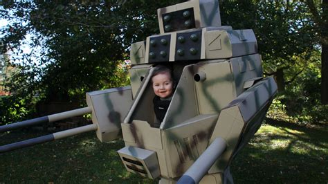 dad  baby piloted mech warrior costume  halloween