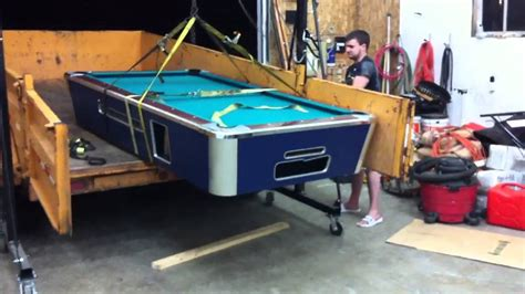 how to move a pool table how not to move a pool table