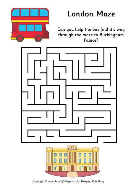 printable london puzzle london maze easy