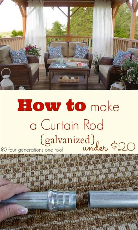how to make outdoor curtain rods best 25 outdoor curtain rods ideas on pinterest cheap