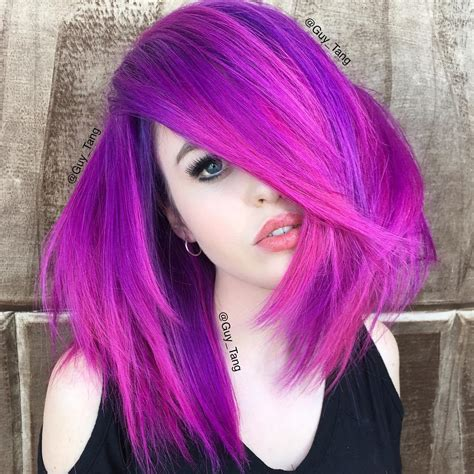 how to color hair purple 40 versatile ideas of purple highlights for brown