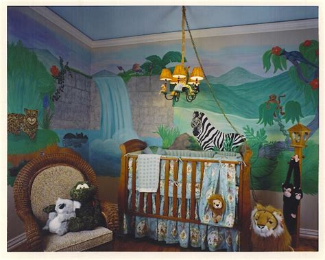 jungle themed room decor baby nursery themes best baby decoration