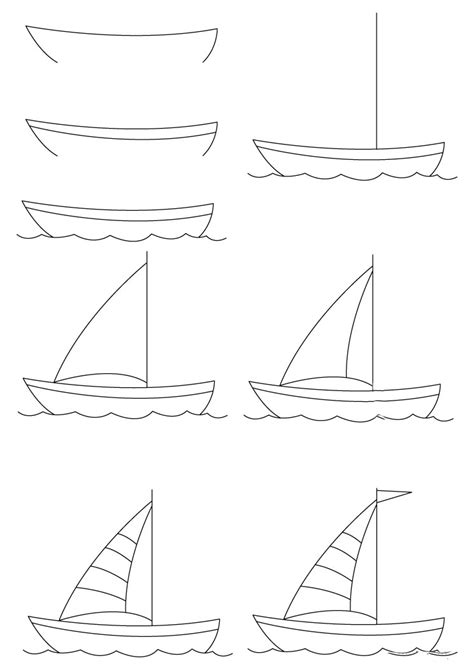 how to draw a boat step by step easy how to draw a boat step by step 12 great ways how to