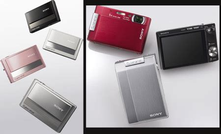 Sony Cyber T100 Lots Of Tech Tucked Into A Tiny Casing by Stylish And Slim 8 Megapixel Cyber T Series Digital