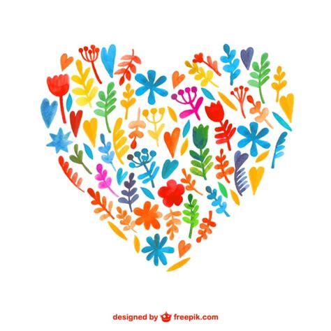 imagenes flores en forma de corazon flores de la acuarela en forma de coraz 243 n descargar