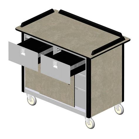 Service Cart With Drawers by Lakeside 69040 Stainless Steel Beverage Service Cart With