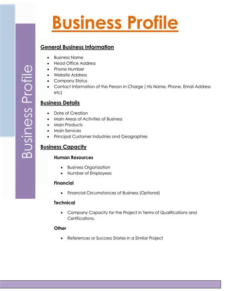 company profile template for small business business profile template business profile presentation