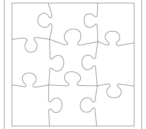 puzzle blank template free printable puzzle pieces coloring europe