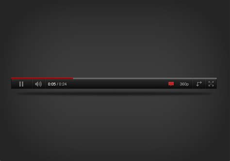 video player layout psd youtube player psd