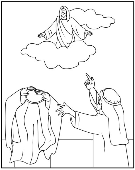 coloring pages ascension of jesus coloring pages heaven colouring pictures for