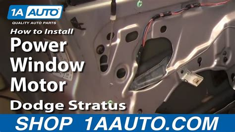 motor repair manual 1996 dodge stratus lane departure warning how to install replace power window motor dodge stratus 01 06 1aauto com youtube