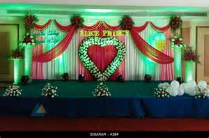 wedding reception decorations wedding reception decoration done at mass hotel pondicherry 171 wedding decorators in pondicherry