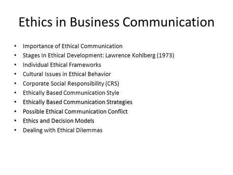 Ethics In Media Communications ethics in business communication motavera
