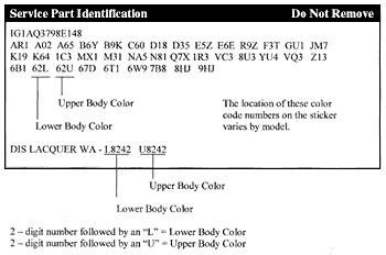 domestic  foreign vehicles color identification plate paintscratchcom