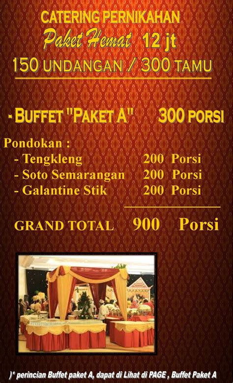 Wedding Budget 100 Juta by Jasa Layanan Catering Murah Tapi Berkelas Di Semarang