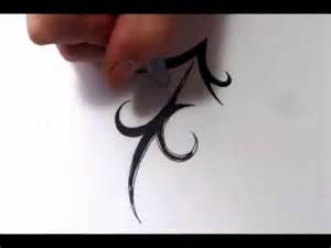 sagittarius tattoos how to draw a simple tribal star