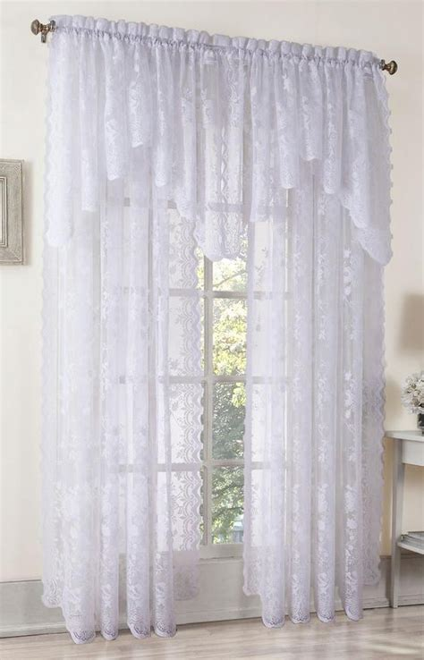 White Lace Curtains Alison Lace Curtain White View All Curtains