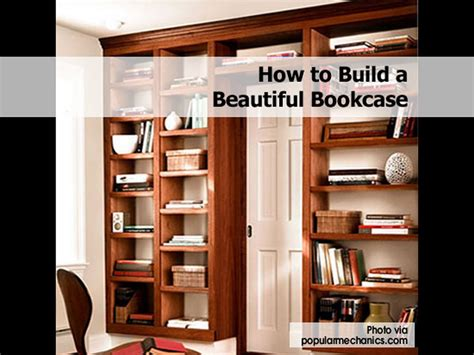 how to build a beautiful bookcase