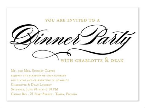 business dinner invitation template business dinner invitation card sle best business cards