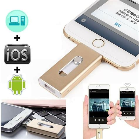iphone usb drive 64gb memory stick i flash drive storage usb for iphone 6 6s ipod android ebay