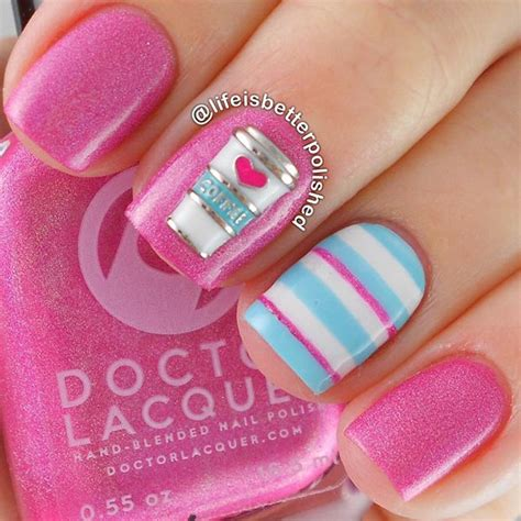 easy nail art pink and blue 80 nail designs for short nails stayglam
