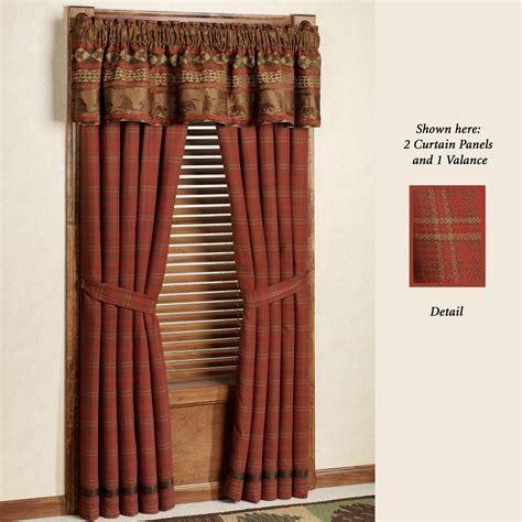 lodge curtains cascade lodge window treatments