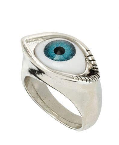 silver metal eyeball ring