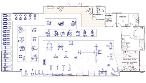 fitness center floor plan design fitness space planner