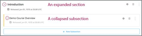 html expand collapse section 7 2 developing your course outline building and running