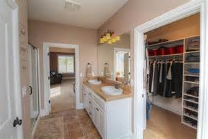 master bathroom with walk in closet