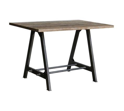 brighton industrial wood metal a frame table