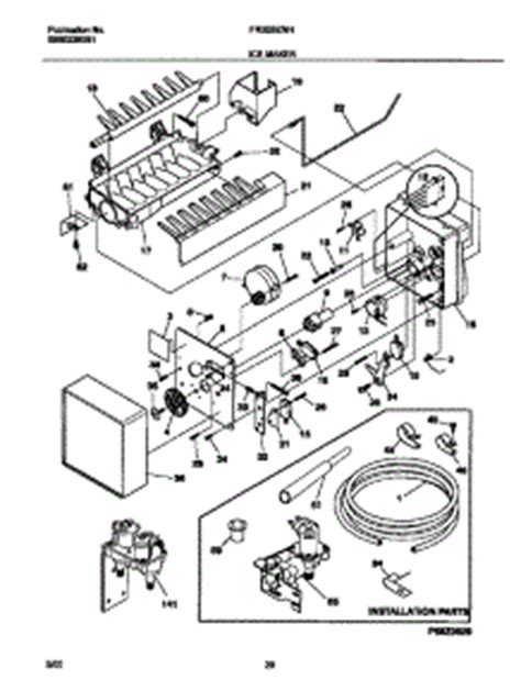 frigidaire gallery refrigerator parts diagram parts for frigidaire frs26znhb3 refrigerator