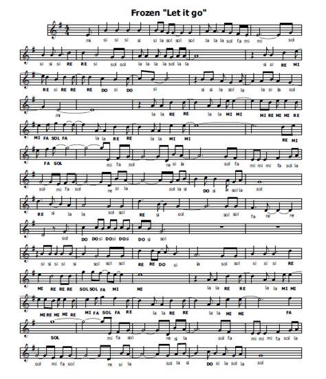 frozen testi canzoni musica e spartiti gratis per flauto dolce frozen flauto