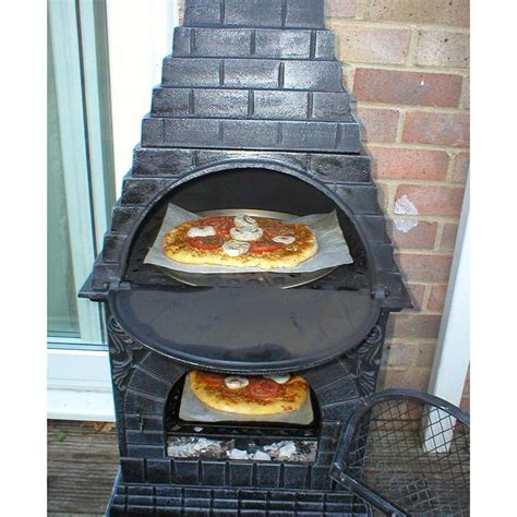low price chiminea pit pizza oven garden landscape - Chiminea With Pizza Oven