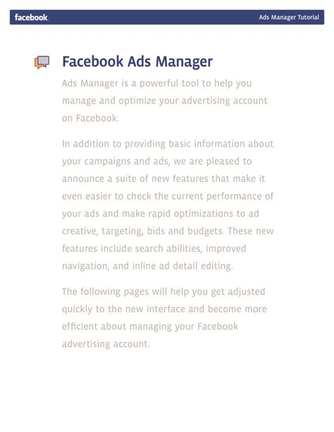 facebook ppc ads tutorial facebook ads manager tutorial