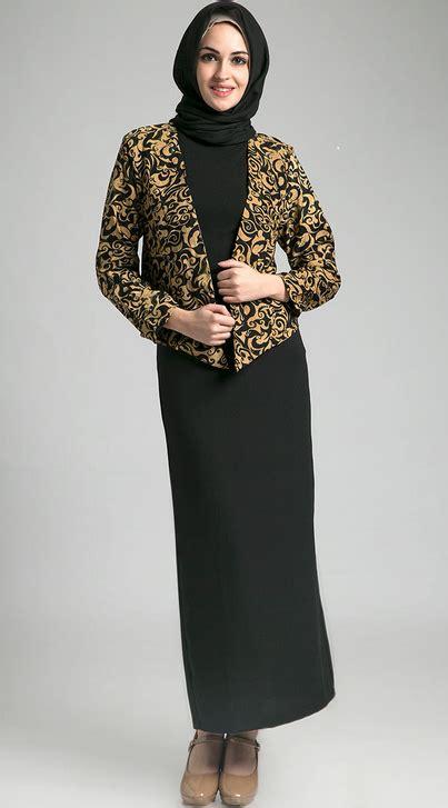 Gamis Batik Modern C 530 baju kerja wanita muslim png 403 215 727 pakaian kerja