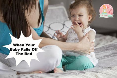baby falls   bed stay  home mum
