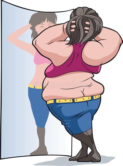 Decke Klauen by Dicke Frau Stock Vector Illustration Of Self Slim