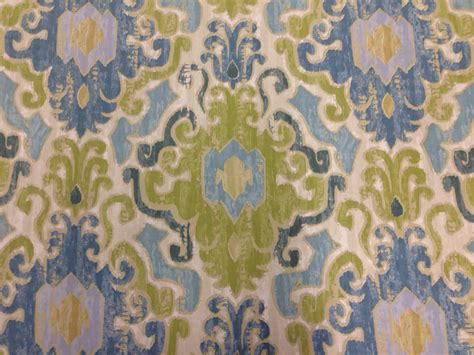ikat upholstery fabric by the yard aqua blue and green ikat fabric drapery fabric by the yard