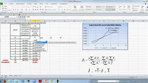 tutorial excel regresion lineal regresion y correlacion con excel youtube