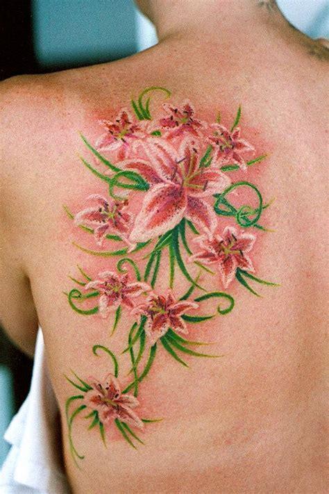 female shoulder blade tattoo designs feminine shoulder blade tattoos lillies on shoulder