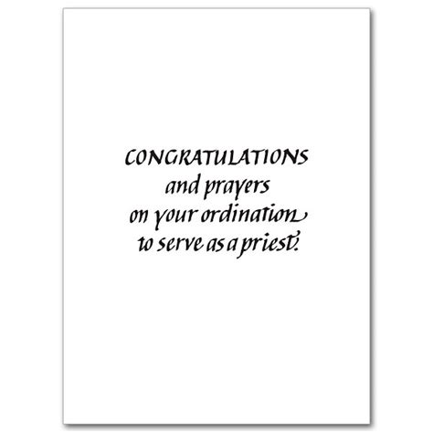 Congrats Text Gift Card - on your priestly ordination ordination congratulations card