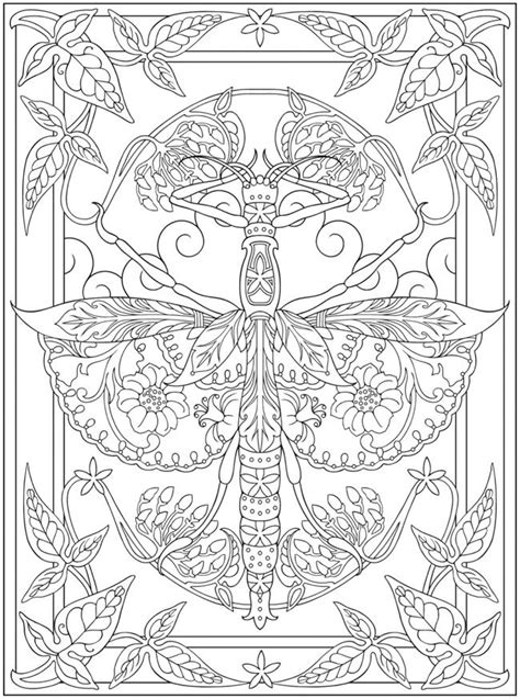 spark bugs coloring book dover coloring books books dragonfly free printable abstract coloring page