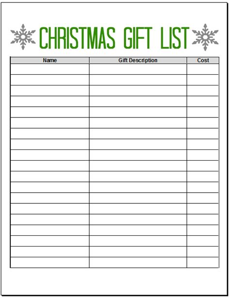 printable christmas list maker 5 best images of free printable christmas list maker